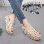 【shoes】厚底ファッションポインテッドトゥエレガント上質感サンダル