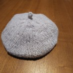 編どり屋 8mm棒針で編む表編みのベレー帽子 編み物キット