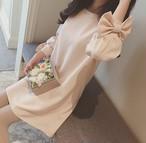 【dress】スウィートAラインスピーカースリーブ女っぽさワンピース 22763416