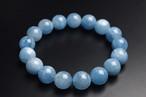 透明感アリ!濃厚ブルー◆3月の誕生石◆ディープアクアマリンブレスレット◆9-9.5mm