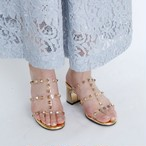 Studs Clear Sandals
