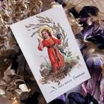 押し花のホーリーカード 幼いイエス