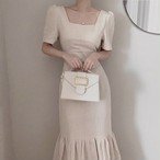 cotton frill tail dress 2color
