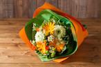 【プレゼントにぴったり】花束/元気いっぱいガーベラのブーケ