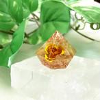 ダイヤ型 シトリンオルゴナイト 薔薇入り