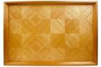 mahogany checker tray 長手盆 0015