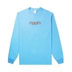 Rainbow Embroidered Long Sleeve Tee(Aquatic Blue)