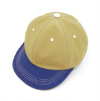 """Leftover Fabrics"" by velo spica  The Cap col. Beige × Blue size:S/M"