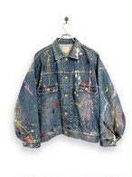 12.5oz Denim Jacket / splash paint