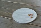 白い陶板のお皿(小)