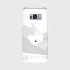Galaxy S8/S8+ もふもふオカメインコ ホワイトフェイス ケース