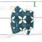 【おおやまとみこ】立体布マスク(七宝崩し緑)・大人用サイズ/マスク