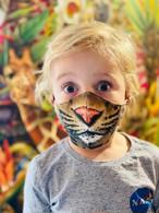 洗える布マスク「豹柄・動物の顔」立体 男性・女性・子ども用 ソーシャルグッド&個性的※在庫あり