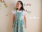 女の子のジャンパースカート(草花・ミント)