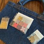 【オンライン特別価格☆作ってみよう♪自分だけのオリジナルトートバッグ】トートバッグキット(花色ピンク)