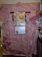 藤娘きぬたや総絞り訪問着 silk Kimono(overall tie-dyed)