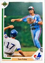 MLBカード 91UPPERDECK Tom Foley #381 EXPOS