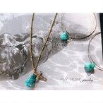 "14kgf ""cross turquoise necklace"""