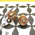 粒々bonbon chocolate ヘーゼルナッツ【イヤリングのみ】