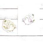 【嶋波誌麻×ヤマノグチ】ちゃらんイラストスタンプ(エナガと一緒)/消しゴムハンコ