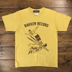 Bakken Record Tee / vintage yellow