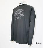 PE-702M秋冬メンズロングラグランスリーブTシャツ(ブラック)