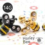 ボディピアス 14G ミツバチ 蜂 ボディーピアス 軟骨 人気 TBP080