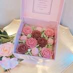 バレンタインホワイトデー限定BOXケーキ【ショコラフランボワーズ】(あんクリーム)