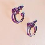 三日月フープEarring #0127 silver 片耳  三日月フープピアス/シルバー