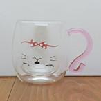 【仲良し猫】耐熱2重マグカップ ドリーム【猫柄 マグカップ】