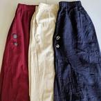 ◆**M.Yさま専用**◆チェンマイ sora to tori オリジナル飾りボタンつきスカートに見えるサルエル キナリ色