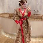 【dress】セクシーワンピース配色切り替えリボン付きレディースワンピース