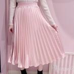 【ManonMimie】サテンプリーツスカート