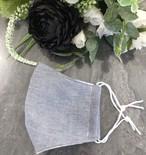 立体マスク 布 ワイヤー入り/ポケット付【女性ゆったりサイズ】003 ネイビー