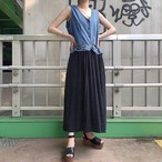"""STUDIO WEAR"" vintage denim×rayon docking onepiece"