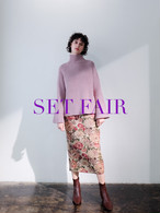 【SET FAIR】bell sleeve high-neck knit(mauve・mint)【11/10-11/16まで】
