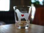 ラブラドールレトリバー彫刻グラス(ハート&クローバー)