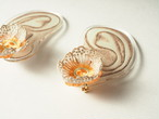 ARRO / Embroidery earing / FLOWERS AT DAWN 2 / IVORY