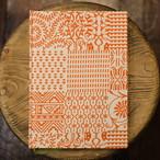 罫線 インド製 オレンジハンドプリント A5Colorisノート ユーティリティサイズ