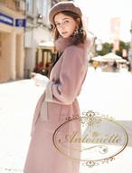 フォックスファー コート レディース おおきめサイズ 大きめ XXL XL L ピンク 取り外し可 アウター キュート エレガント 可愛い ロング丈