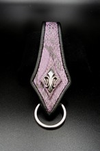 Item No.0268: Rizard Tail Key Holder/Diamond Python Mat purple/B-fin RE-5