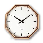 KATOMOKU wooden mosaic clock km-16N 電波時計