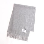 THE INOUE BROTHERS/Brushed Scarf/Light Grey