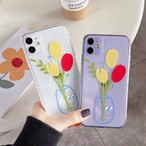 【オーダー商品】Flower clear iphone case