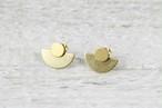◇STATE OF A◇ Studs Semi Circle Brass 2 in 1 (Item No 10374)