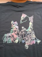 青森市町村Tシャツ黒XXLサイズ(身丈82、肩幅56)