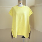 【sandglass】smocking t-shirt(yellow) / 【サンドグラス】スモッキング Tシャツ(イエロー)
