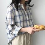 チェック柄リラックスシャツ327