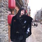 ベルベット ストリート系 ジャケット シャツ 長袖 レディース レトロ オーバーサイズ ゆったり オルチャン 韓国 原宿