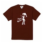 【在庫わずか】革のブーツTシャツ バーガンディ